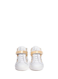 Giuseppe Zanotti Design 'Nicki Junior' double zip leather kids sneakers