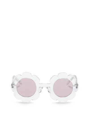 Main View - Click To Enlarge - Sons+Daughters Eyewear - 'Pixie' kids acetate floral frame sunglasses