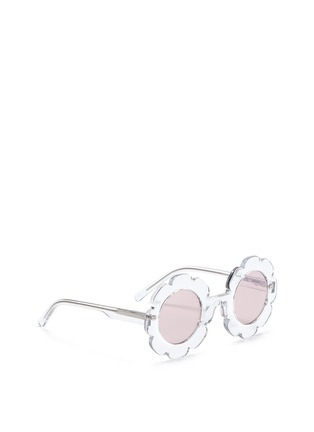 Figure View - Click To Enlarge - Sons+Daughters Eyewear - 'Pixie' kids acetate floral frame sunglasses