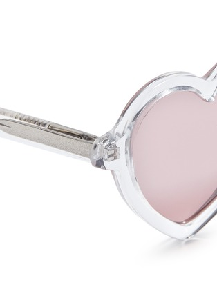 Detail View - Click To Enlarge - Sons+Daughters Eyewear - 'Lola' kids acetate heart frame sunglasses