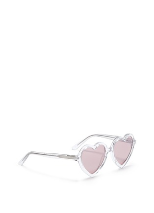 Figure View - Click To Enlarge - Sons+Daughters Eyewear - 'Lola' kids acetate heart frame sunglasses