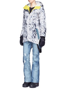Burton x L.A.M.B. 'Bolan' Paint Crackle print down ski jacket
