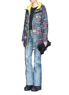 Burton x L.A.M.B. 'The Alice Insulator' patchwork denim print down ski jacket
