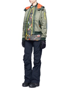 Burtonx L.A.M.B. 'Cherry' bomber jacket with detachable down vest