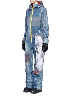 Burtonx L.A.M.B. 'Suzi' patchwork denim print snowboard jumpsuit