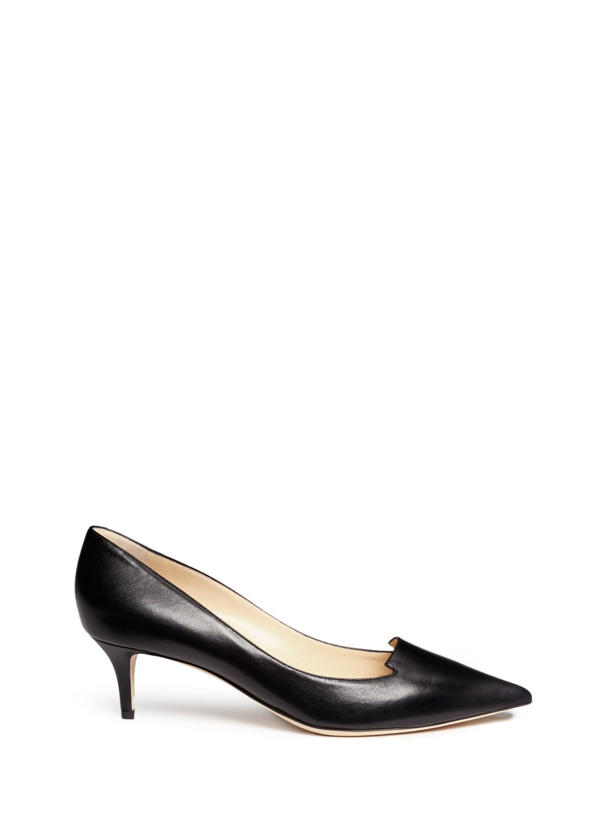 Allure notched vamp leather pumps by Jimmy Choo