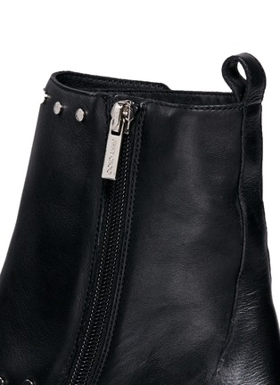 Detail View - Click To Enlarge - Jimmy Choo - 'Baxter 35' stud trim buckle flap leather boots