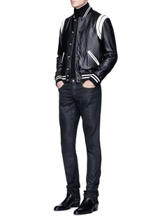Saint LaurentLambskin leather teddy jacket