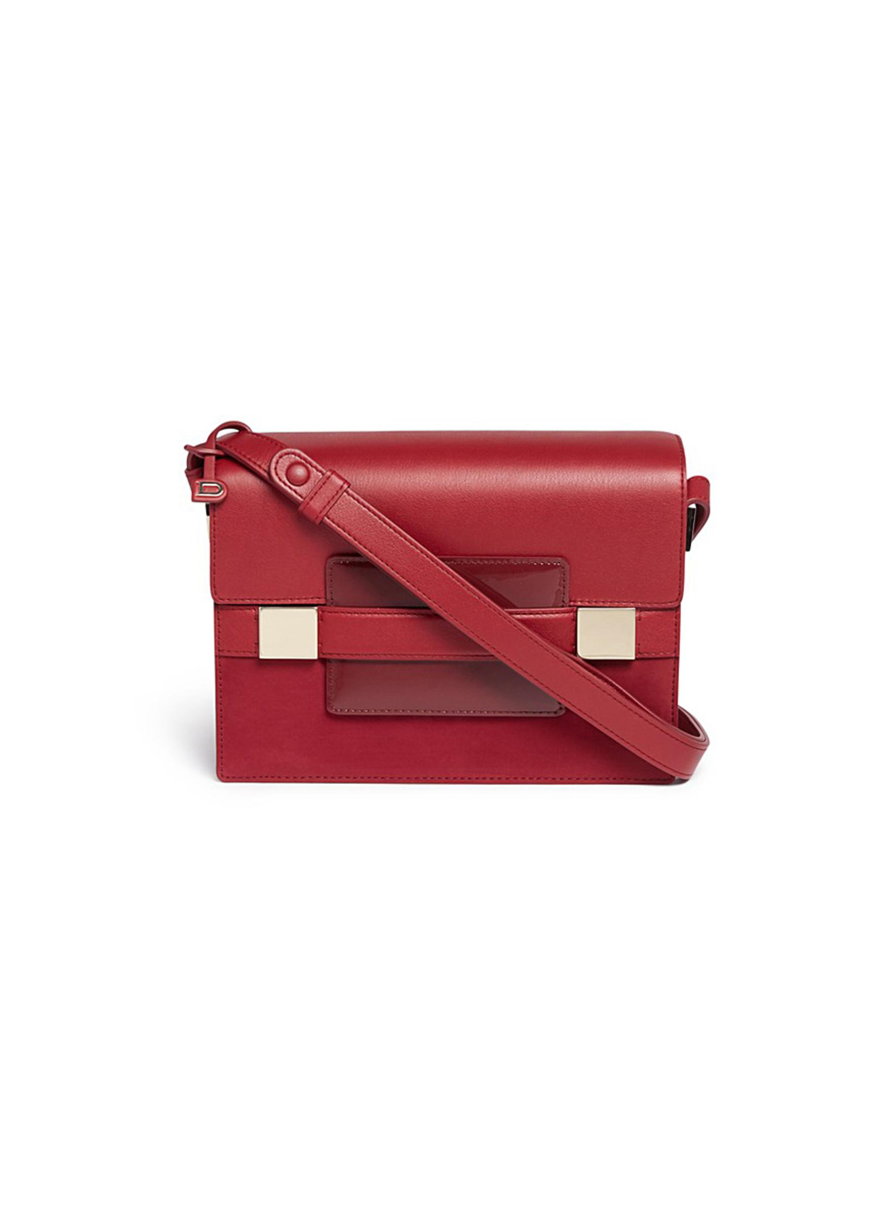 Madame PM Polo panelled leather shoulder bag by Delvaux