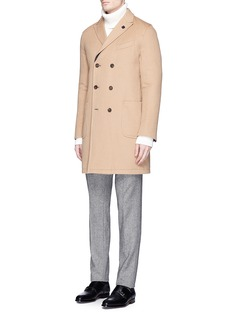 LardiniReversible padded camel hair coat