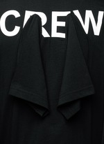 'Crew' sleeve combo cotton T-shirt