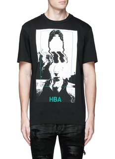 Hood By Air'Montgomery' face print cotton T-shirt