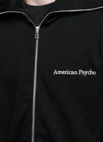 'Bret' American psycho embroidery zip hoodie