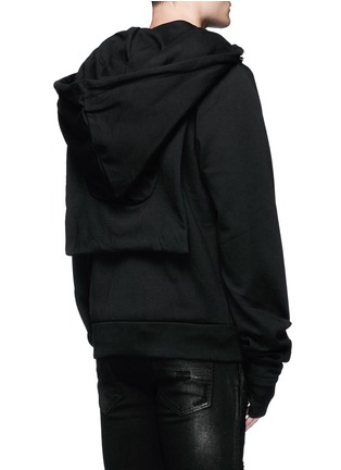 Back View - Click To Enlarge - Hood By Air - 'Bret' American psycho embroidery zip hoodie