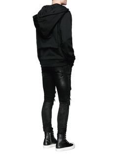 Hood By Air'Bret' American psycho embroidery zip hoodie
