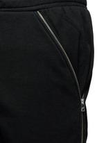 Logo zip side cotton fleece sweatpants