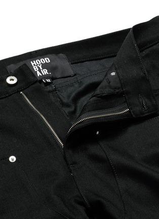 Hood By Air-'Double sag' logo print cuff jeans