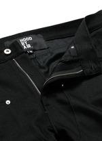 'Double sag' logo print cuff jeans