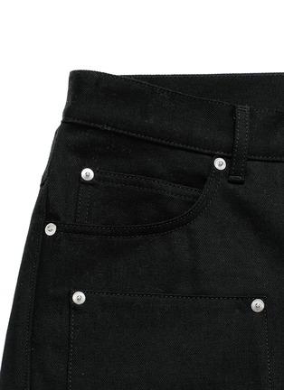 - Hood By Air - 'Double sag' logo print cuff jeans