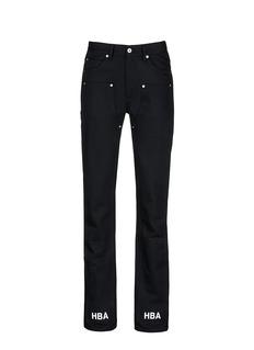 Hood By Air'Double sag' logo print cuff jeans