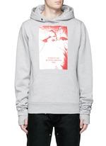'America Winds' print thumb hole slot hoodie