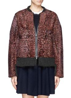 HOCKLEY'Gull' karakul fur bomber jacket
