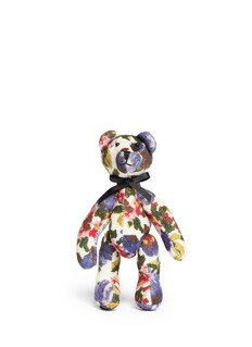 MS MINFloral felt small teddy bear