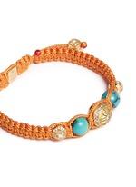 'Shamballa' diamond 18k gold turquoise bracelet