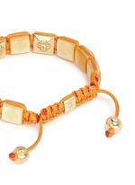'Lock' diamond 18k gold mother of pearl bracelet