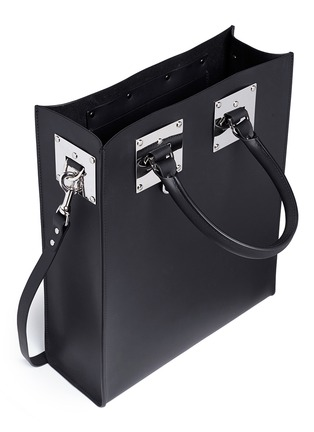 Detail View - Click To Enlarge - Sophie Hulme - 'Albion' rectangle leather box tote
