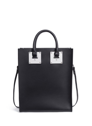 Back View - Click To Enlarge - Sophie Hulme - 'Albion' rectangle leather box tote
