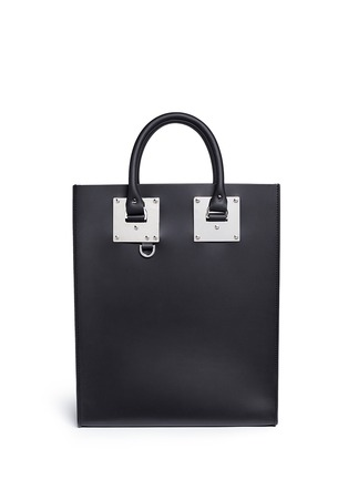 Main View - Click To Enlarge - Sophie Hulme - 'Albion' rectangle leather box tote