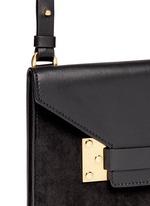 'Milner Double' leather suede combo shoulder bag