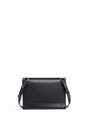 Back View - Click To Enlarge - Sophie Hulme - 'Milner Double' leather suede combo shoulder bag