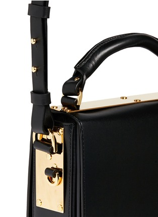 Detail View - Click To Enlarge - Sophie Hulme - 'Finsbury' leather shoulder bag