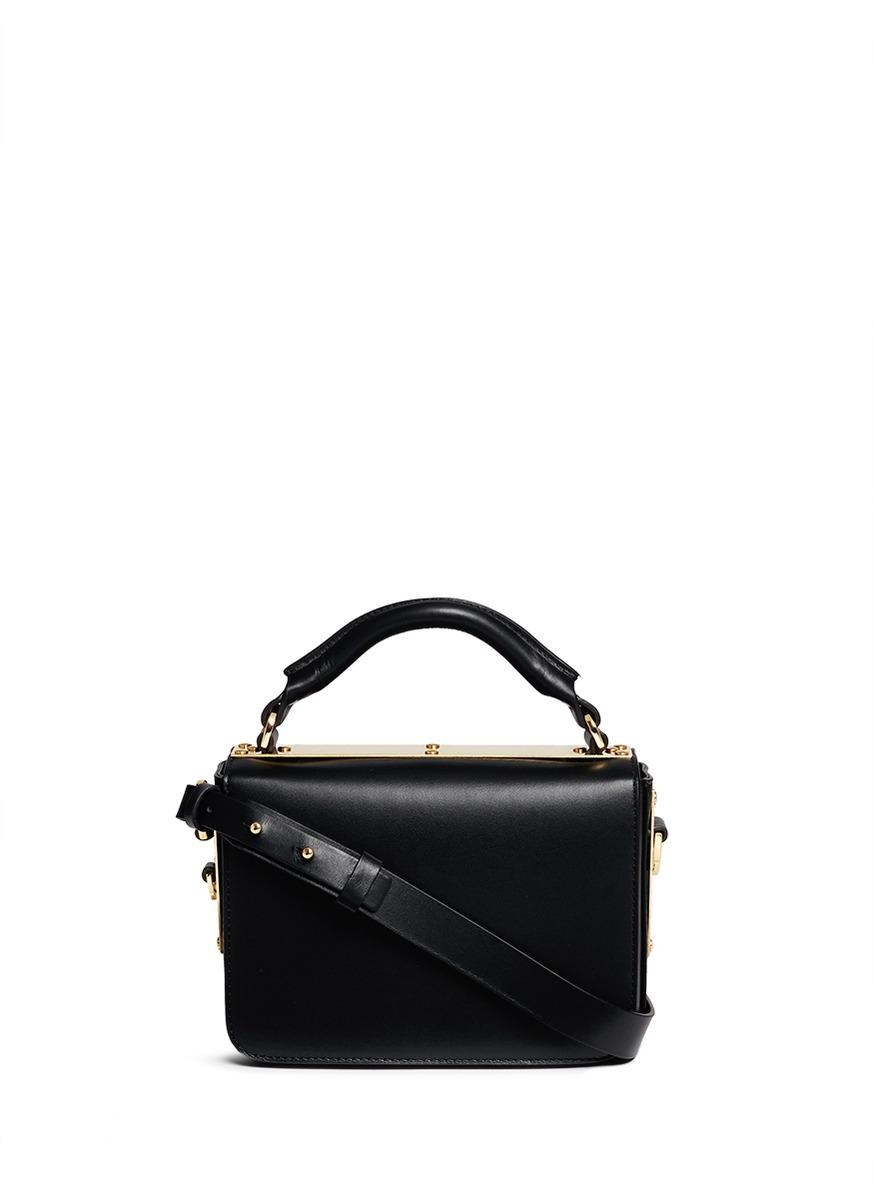 Finsbury leather shoulder bag by Sophie Hulme