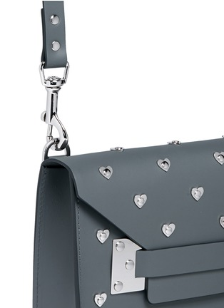 Detail View - Click To Enlarge - Sophie Hulme - 'Milner' mini heart stud envelope leather crossbody bag