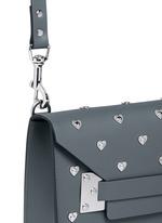 'Milner' mini heart stud envelope leather crossbody bag
