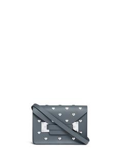 Sophie Hulme'Milner' mini heart stud envelope leather crossbody bag