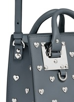 'Albion' heart stud soft leather box tote