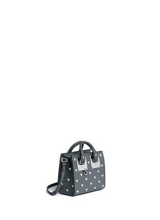 Front View - Click To Enlarge - Sophie Hulme - 'Albion' heart stud soft leather box tote