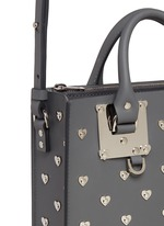 'Albion Square' heart stud leather box tote