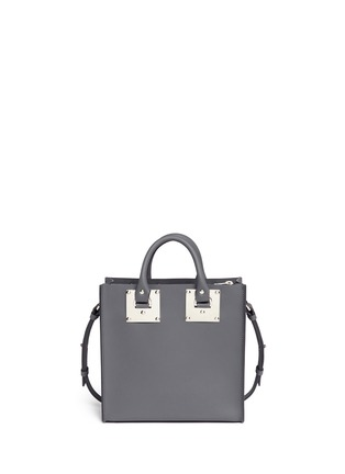 Back View - Click To Enlarge - Sophie Hulme - 'Albion Square' heart stud leather box tote