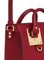 'Albion' heart plate soft leather box tote
