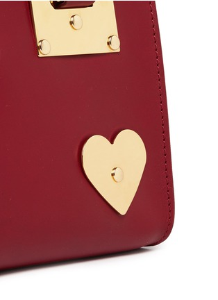 - Sophie Hulme - 'Albion' heart plate soft leather box tote