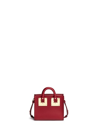 Back View - Click To Enlarge - Sophie Hulme - 'Albion' heart plate soft leather box tote
