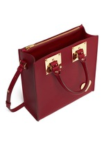 'Albion' heart plate square leather box tote