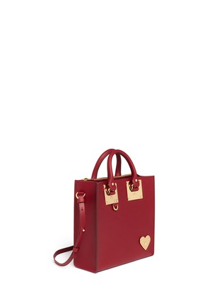 Front View - Click To Enlarge - Sophie Hulme - 'Albion' heart plate square leather box tote