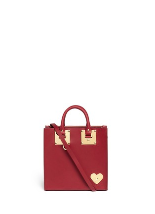 Main View - Click To Enlarge - Sophie Hulme - 'Albion' heart plate square leather box tote