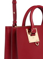 'Albion' large heart plate soft leather tote